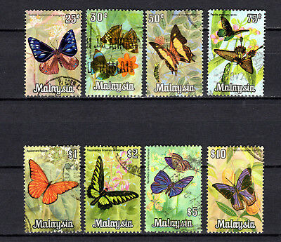 Malaya Malaysia 1970 Straits Settlements Butterflies Full Set Of Used Stamps