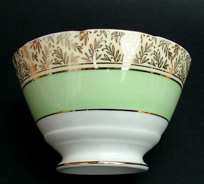 1950's Royal Stafford 8206 Apple Green Tea Size Open Sugar Bowl 12cmw - in VGC