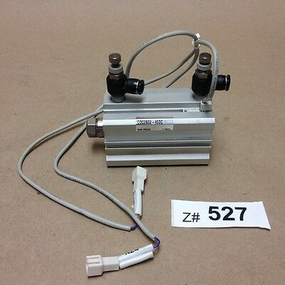 SMC CDQ2B32-45DC Compact Cylinder Actuator w/ (2) D-M9BV 2-Wire Auto-Switches