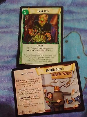 MINT! HARRY POTTER TRADING CARD GAME cards! 2 CARDS PER SALE! #64/116 & #87/116