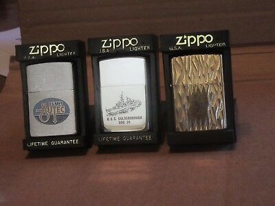 Lot of 3 Vintage  Zippo  lighters US Navy