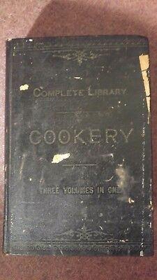 Antique Rare  Cook Book Complete Library Of Cookery Mrs. N.k.m Lee 1885 1St Ed