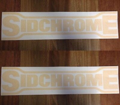 Sidchrome Tools  Advertising Decals, Garage, Shop, Vintage, Tool Box. Yel200x50