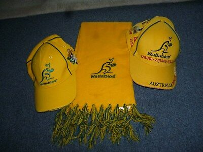 Wallabies Hat 2013, Wallabies Tri Nations Cap and Scarf all in used condition