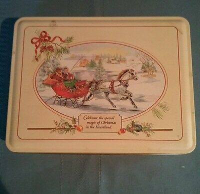 Vintage Swiss Colony Tin~Magic Of Christmas In The Heartland~Helen Endres Design