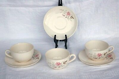 USA Mt Clemens Salem MT ROSE BLUSHING ROSE USA29 Coffee Cups & Saucers (2 ea)