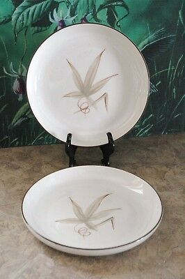 """Winfield Hand Crafted China - PASSION FLOWER - U.S.A. - 7 1/2"""" Salad Plates (2)"""