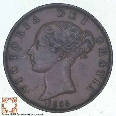 1855 Great Britain 1/2 Penny *1087