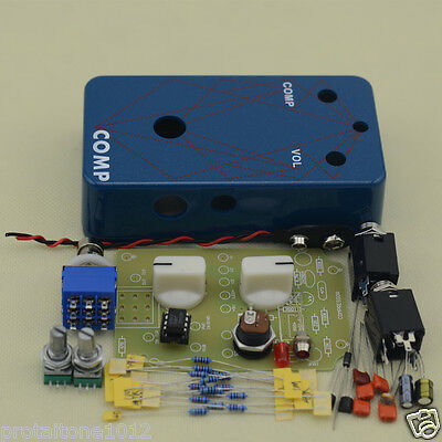 DIY Compressor Effect pedal Complete Kit With 1590B with Holes