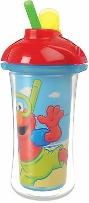 Munchkin Sesame Street Click Lock Insulated Straw Cup 9 Ounce Designs May Vary