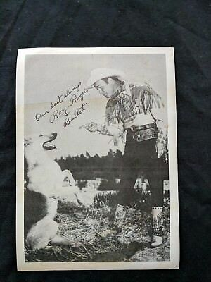 Roy Rogers and Bullet 1947  Black and White VINTAGE Photo Official Photo