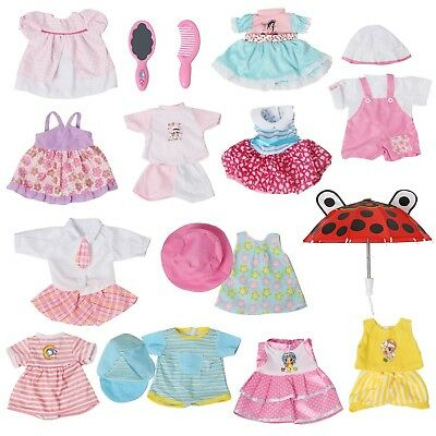 Set of 12 Handmade Alive Baby Doll Clothes Dress Outfits Costumes For 14-16 I...