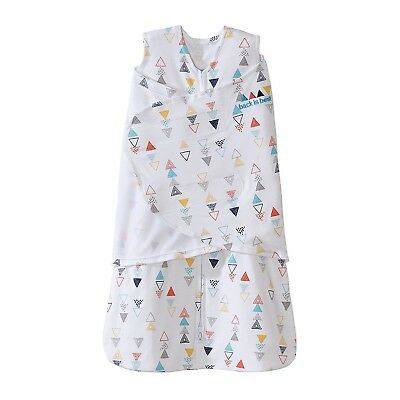 Halo Sleepsack Swaddle 100% Cotton Triangle Neutral Multi Small