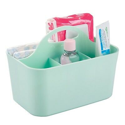 mDesign Baby and Toddler Closet or Nursery Organizer Caddy - Mint Caddy - Small