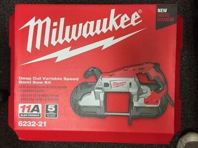 Brand new - Milwaukee 6232-21 Deep Cut Variable Speed Band Saw -
