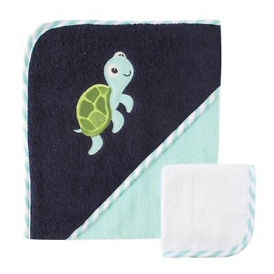 Luvable Friends Hooded Towel and Washcloth Turtle One Size