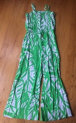 LILLY PULTIZER Girls Green/White Jumpsuit ~ Sz 10/12  ~  ADORABLE