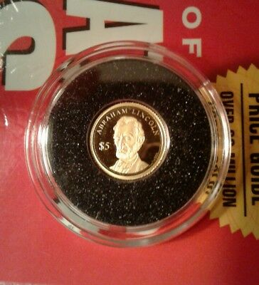2015 Cook Islands $5 Abraham Lincoln 24k Gold Sealed 100th Anniversary Coin Lot