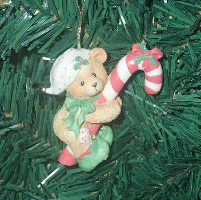 Enesco Cherished Teddies 1995 Elf With Candy Cane Christmas Ornament #651389