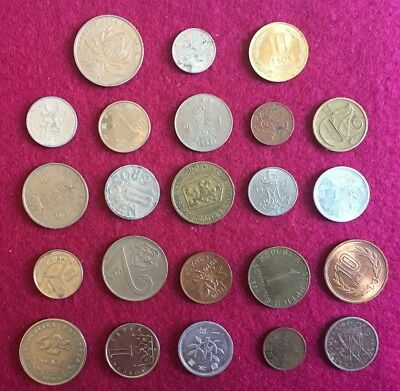 World  Coin Collection. 23 Different Coins. Nice Set From 23 Different Countries