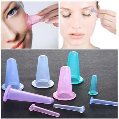 5X Anti-Age Facial Face Eyes Silicone Cupping Vacuum Suction Lifting Massage Cup
