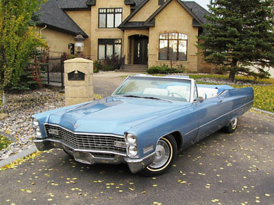 1967 Cadillac DeVille NO RESERVE NO RESERVE 1967 CADILLAC DEVILLE CONVERTIBLE LOW MILE 1 OWNER TRIPLE BLUE CADDY