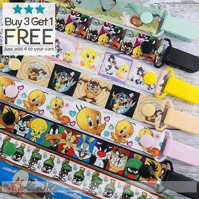 Looney Toons Dummy Clip - Pacifier Clips - Soother Chain - Baby Gift