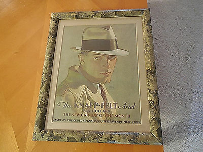 Framed Vintage Crofut Knapp-Felt Hat of the Month Print Advertisement