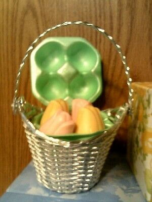 VTG 1978 Avon TREASURE BASKET WITH 4 SPECIAL OCCASION SOAPS -NIB-FREE SHIPPING