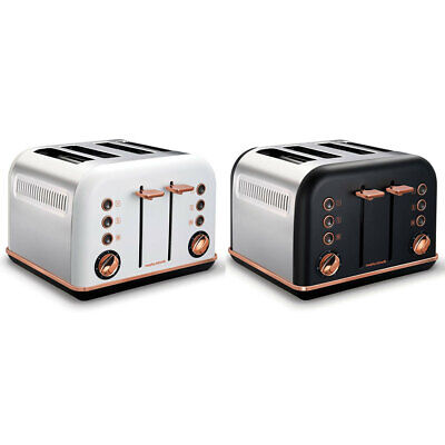 Morphy Richards Accents 4 Slice Toaster Rose Gold w/ Removable Tray/Cord Storage