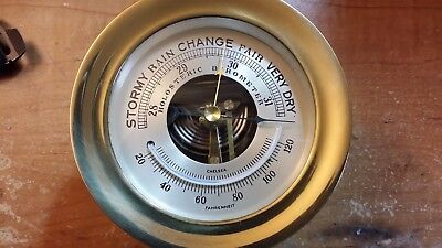 Chelsea Holosteric Barometer. Solid Brass. Excellent condition.