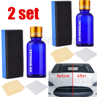 2set 9H Liquid Ceramic Car Coating Super Hydrophobic Glass Polish Wax Paint Care