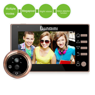 "4.3"" 160°Door Peephole Viewer Camera Home Security Doorbell No Disturb Function"