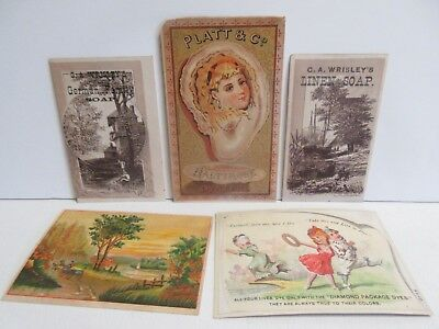Lot of 5 Michigan Related Victorian Trade Cards