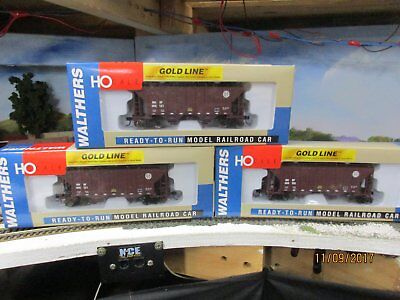 Walthers gold line ho scale 100ton covered hoppers x3 bnsf brown