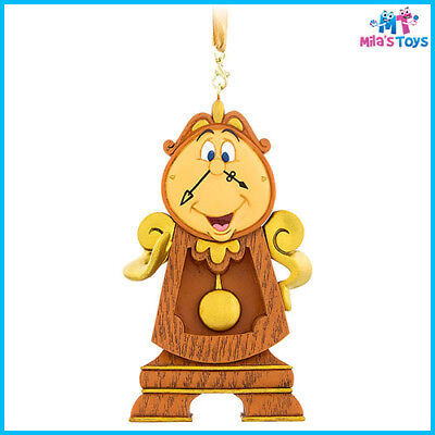Disney Beauty and the Beast's Cogsworth Figural Ornament Decoration brand new