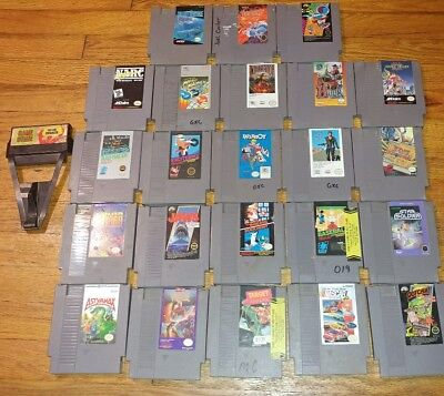 Nintendo nes game lot x24 mario mad max hook double dragon &