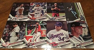 2017 Topps Update Lot Of 16 SP Cards (Code 57) Ruth, Ryan, Bo, Koufax, Kershaw +