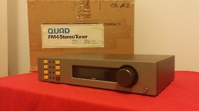 Bench Tested-British High-end QUAD FM4 FM 4 Stereo Tuner in Box-XLNT