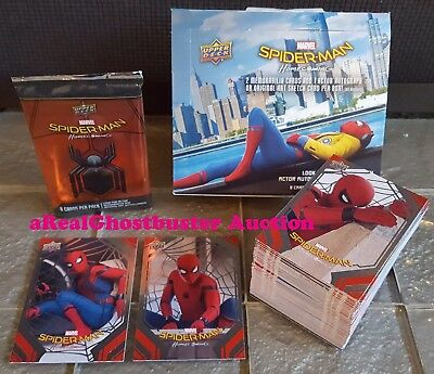 2017 Upper Deck Spider-Man Homecoming Complete 100 Card Silver Foil Parallel Set
