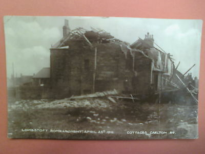 Lowestoft Bombardment 25.04.1916 - Cottages Carlton Road