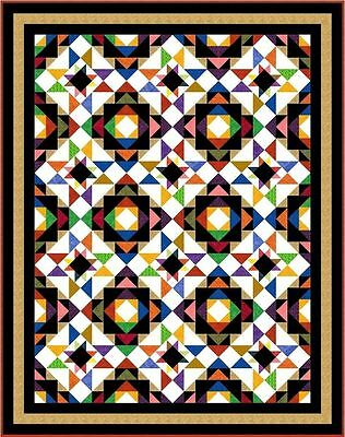 "ULTIMATUM - 83.5"" x 66"" - Pre-cut Patchwork Quilt Kit by Quilt-Addicts Kng Sgle"
