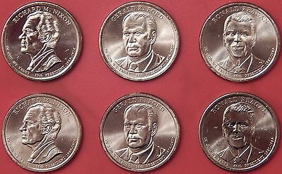 Brilliant Uncirculated 2016 3P & 3D US Presidential 1 Dollars From Mint's Rolls