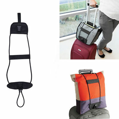 Black Bags Bungee Strap Luggage Backpack Carrier Travel Helper Unisex One Size