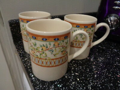 Tesco / Johnson Brothers Lemon Tree Mugs X 3