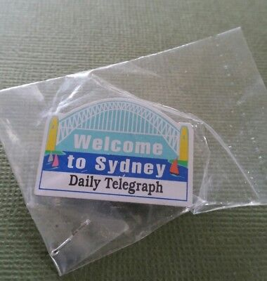 1 X Welcome To Sydney Daily Telegraph  Pin   Brand New