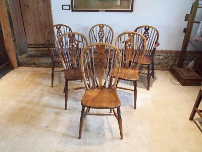 Chairs Windsor Ash and Elm set of six kitchen dining chairs c1820