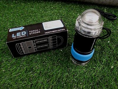 New Divers 50 Meter Depth Rated Led Torch And Strobe New Boxed As Pics Show
