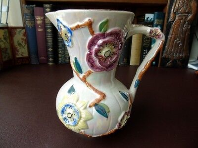 A Beautiful Art Deco Lustre Ware Jug With  Relief Moulded Decoration Arthur Wood