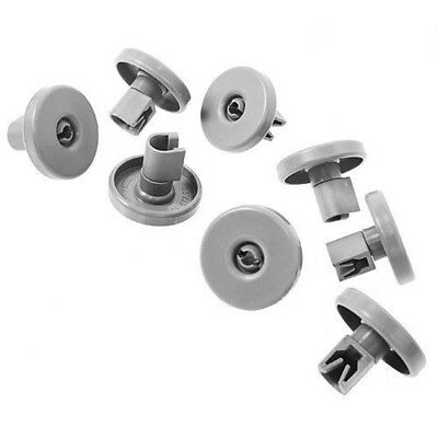 (pkt 8) Dishwasher Bottom Lower Basket Wheels For Westinghouse SB908SL SB908WL